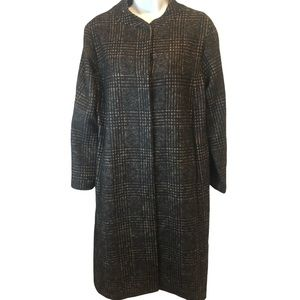 Shannon McLean Women's Plaid Long Overcoat M